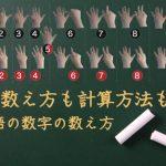 指での数え方も計算方法も違う!ドイツ語の数字の数え方